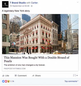 branded content facebook