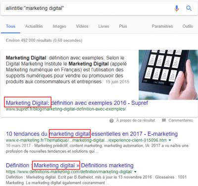 allintitle marketingdigital