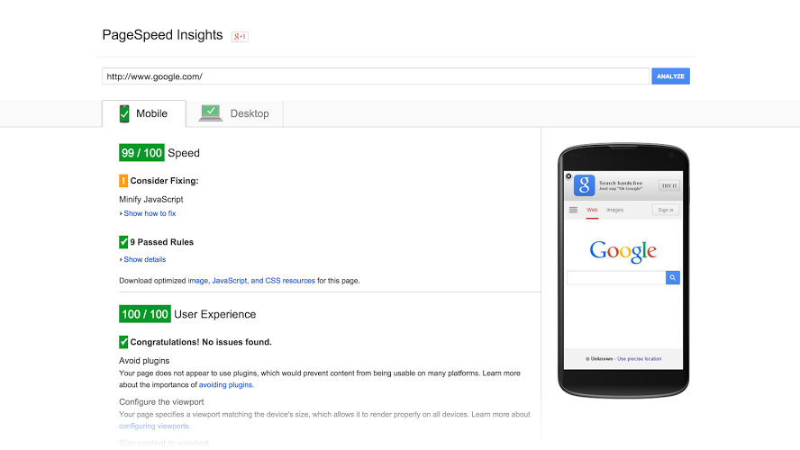 google-speed-insight