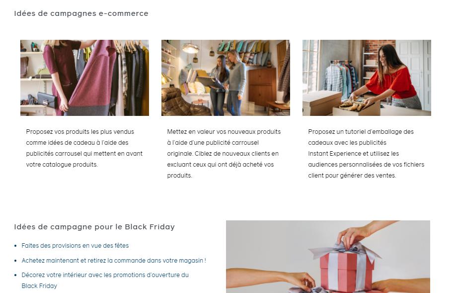 Idées de campagnes e-commerce